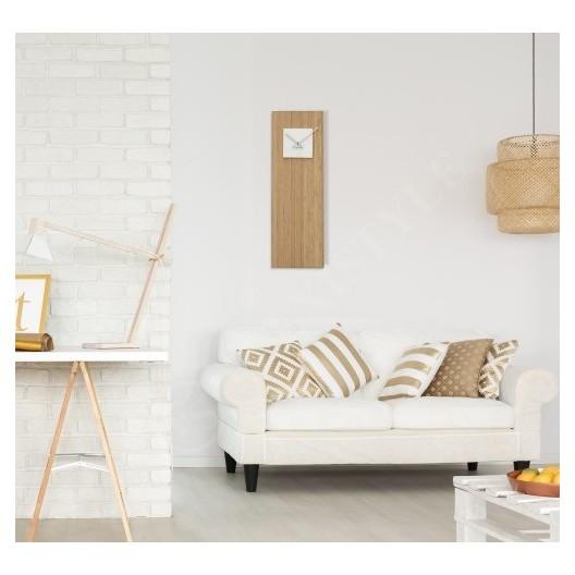 Bambusové hodiny s bielym ciferníkom