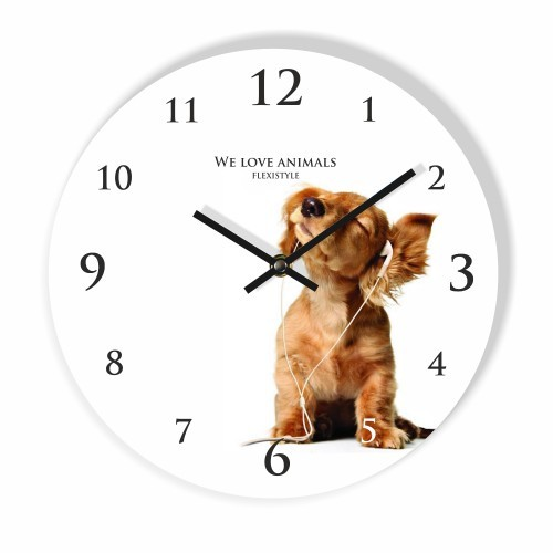 DomTextilu Detské nástenné hodiny so psíkom 8807