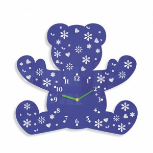 Detské nástenné hodiny v tvare medvedíka
