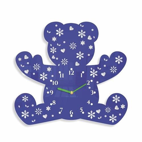 DomTextilu Detské nástenné hodiny v tvare medvedíka 8809-24354