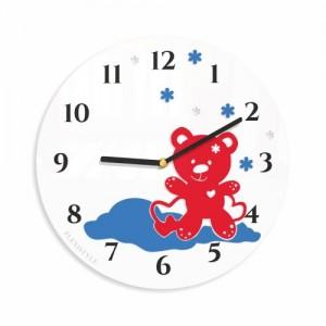 Okrúhle hodiny do detskej izby s medvedikom