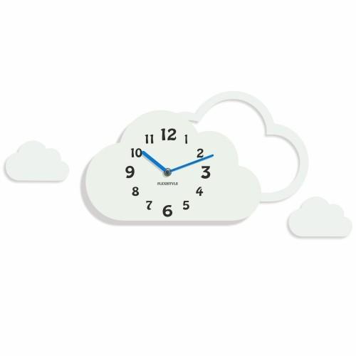 DomTextilu Detské hodiny na stenu v tvare obláčika 8815
