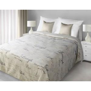 Krémový obojstranný prehoz na manželskú posteľ