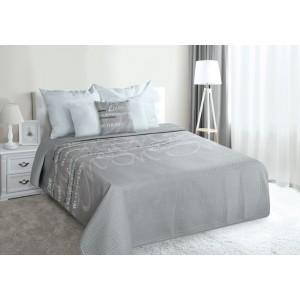 Luxusná prikrývka na posteľ sivej farby