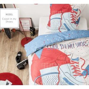 Bavlnené posteľné obliečky s motívom topánky