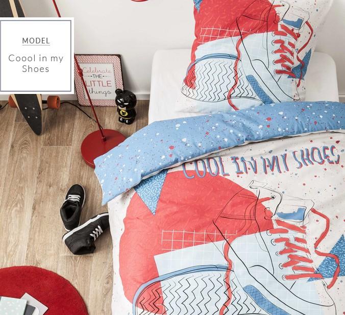 DomTextilu Bavlnené posteľné obliečky s motívom topánky 8938