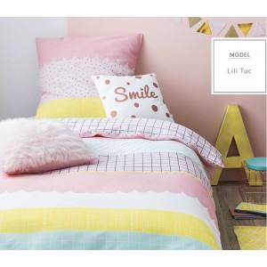 Ružové bavlnené detské posteľné obliečky