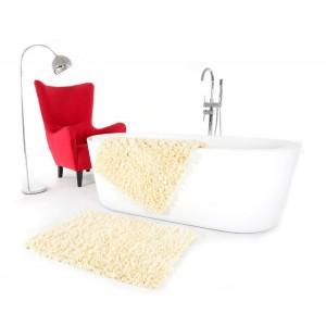 Krémový kúpeľňový koberček