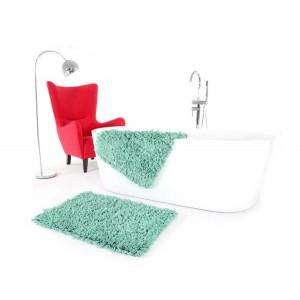Zelené predložky do kúpeľne