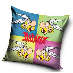 Asterix farebná detská obliečka na vankúš 40x40