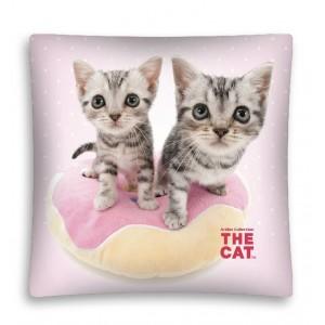 Ružové návleky na vankúše so vzorom mačičiek