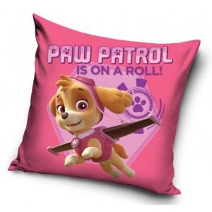 Obliečka na vankúšik s motívom Paw patrol v ružovej farbe