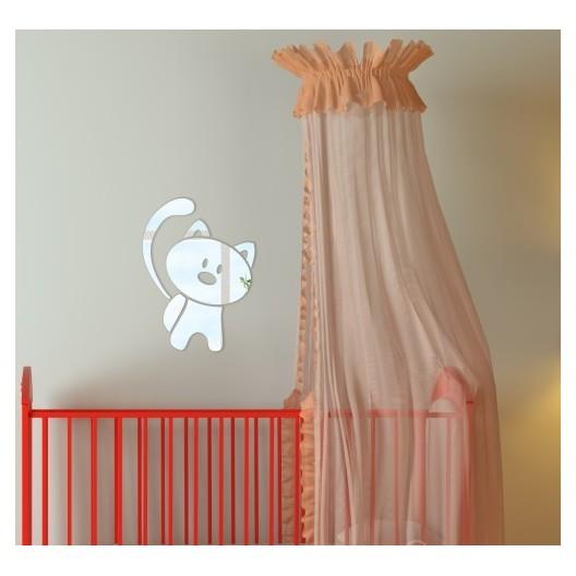 Detské dekoračné zrkadlo v tvare mačky