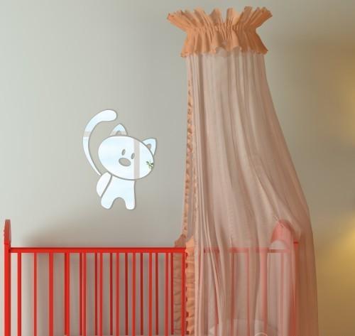 DomTextilu Detské dekoračné zrkadlo v tvare mačky 9107