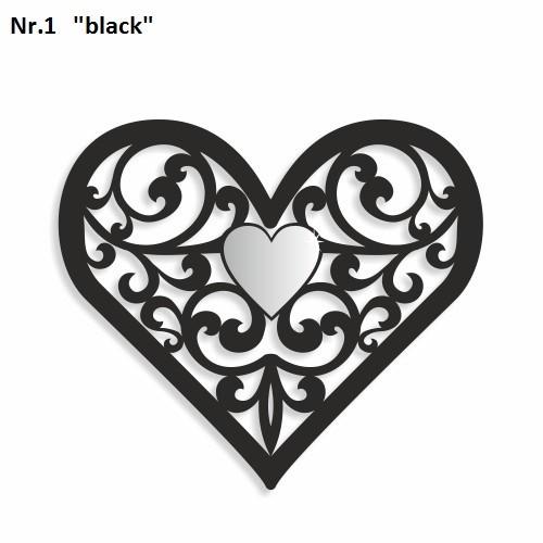 DomTextilu Dekorácia na stenu v tvare srdca Výška 20 cm Šírka 17 cm Hrúbka 3 mm 9139-24994