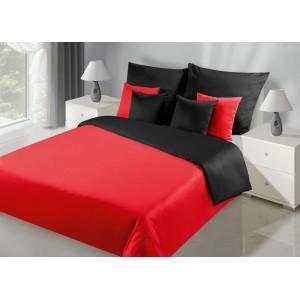 Červené obojstranné obliečky na posteľ