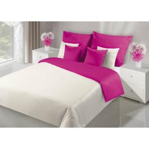 Obojstranné posteľné obliečky ružovej farby