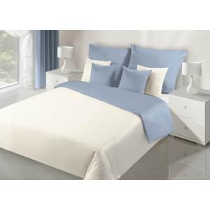 Svetlo modré obojstranné obliečky na posteľ