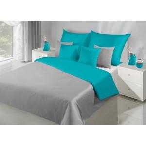 Luxusné posteľné obliečky na posteľ v striebornej farbe