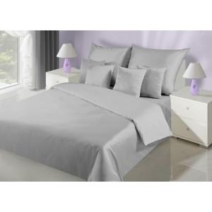 Jednofarebné elegantné obliečky na posteľ v sivej farbe
