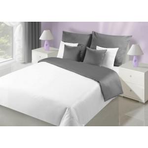Kvalitné obojstranné posteľné obliečky v bielej farbe
