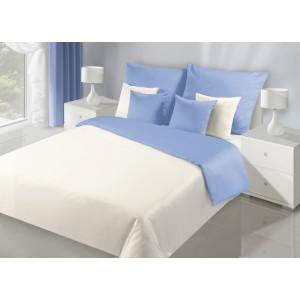 Krémovo modré obojstranné posteľné obliečky