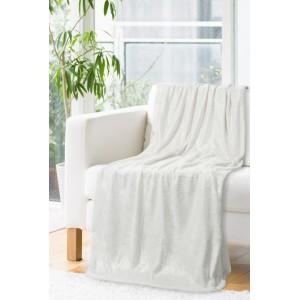 Teplá deka bielo striebornej farby