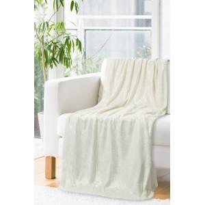 Krémová deka so zlatou potlačou