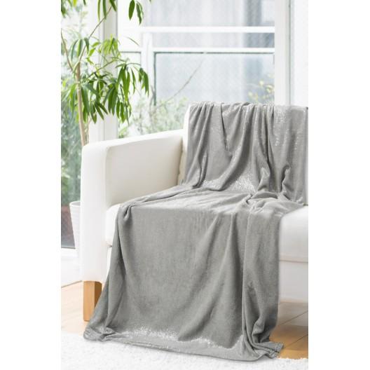 Sivo strieborná deka z mikrovlákna