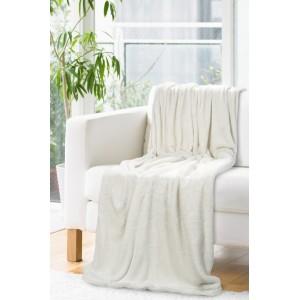 Luxusná krémová deka so strieborným vlasom