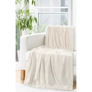 Teplá deka krémovej farby