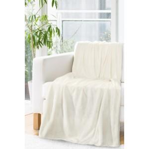 Luxusná deka v krémovej farbe