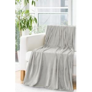 Hrejivá deka svetlo sivej farby