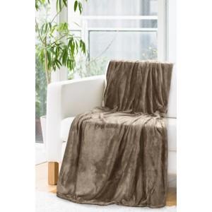 Kvalitná hnedá deka s odleskom