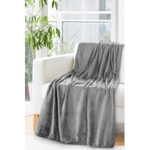 Tmavo sivá deka z mikrovlákna