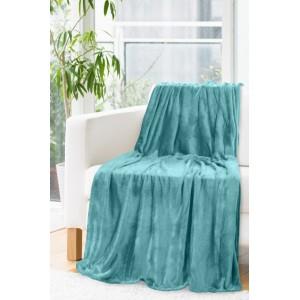 Štýlová deka tyrkysovej farby
