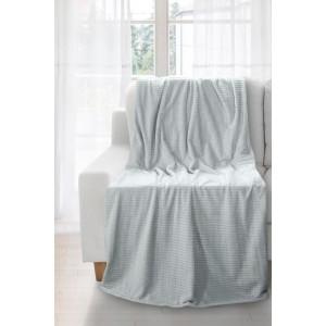 Strieborná deka so štvorčekmi