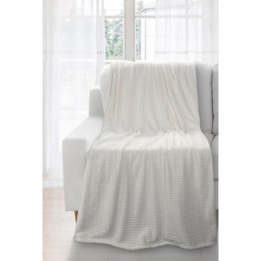 Štvorčekovaná deka krémovej farby