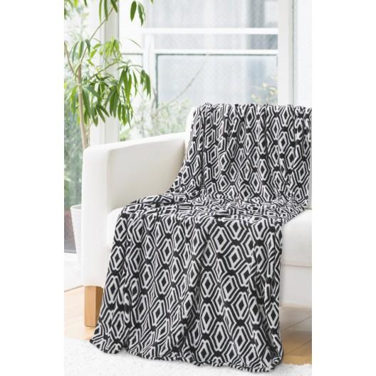 Čierna deka s bielou potlačou