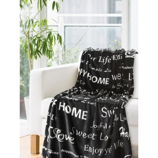 Moderná deka v čiernej farbe