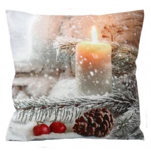 Obliečky na vankúše s vianočným motívom sviečky