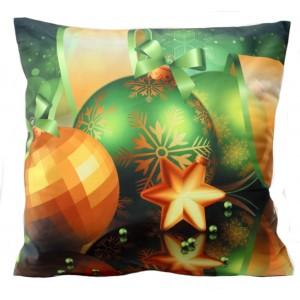 Vianočné dekoratívne navliečky na vankúš v zelenej farbe