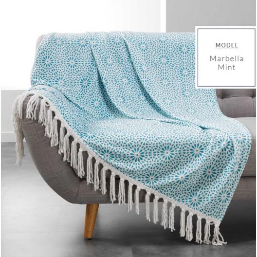 Hrejivá deka s potlačou mentolovej farby