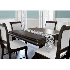 Sivé dekoračné štóly s vianočným motívom na stôl