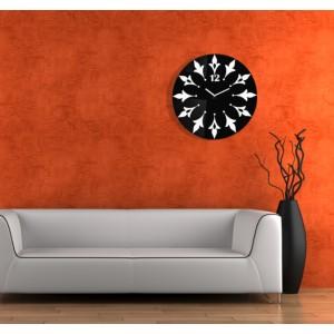 Nástenné hodiny s kvetinovým motívom