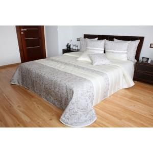 Kvalitný prehoz na posteľ krémovo béžovej farby