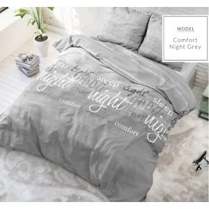 Moderné sivé posteľné obliečky s nápismi