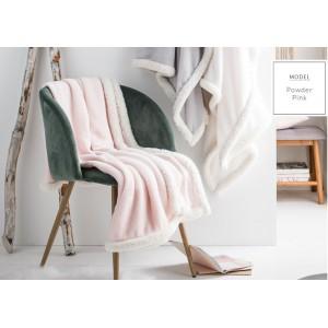 Ružové francúzske deky s bielym lemovaním