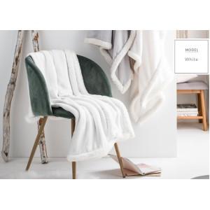 Francúzska dekoračná deka bielej farby