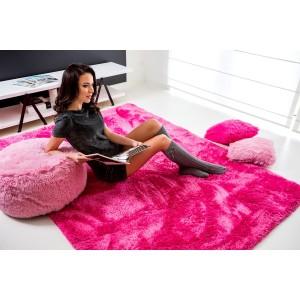 Hebké plyšové koberce ružovej farby
